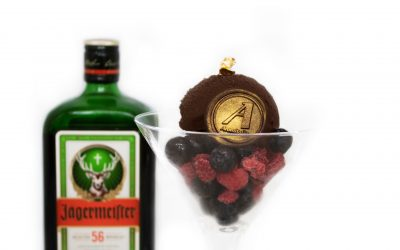 Sorbete de chocolate y licor